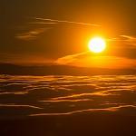 Východ slunce  nad inverzí.