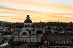 Svítání v Târgu Mureș