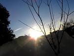Zimní záře slunce