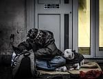 Londýnský bezdomovec se psem