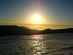 """Východ slunce z """"Moravského ledovce"""""""