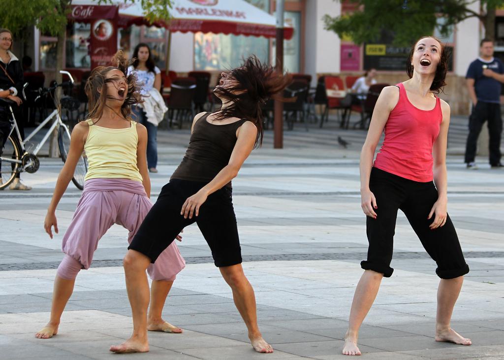 balet na náměstí TGM