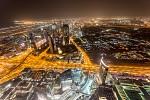 Vyhlídka z Burj Khalífy v noci
