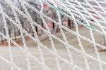 Námraza na sítí branky