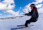 Snowkiting Moldava