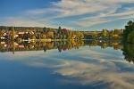Podzimní ráno u rybníka