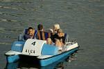 parta na vodě