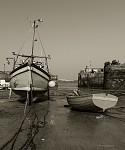 Newquay Harbour za odlivu