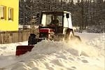 Odklízení sněhu v Brdech