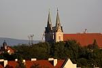 kostol z balkona