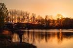 Večer na jezeru.