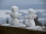 Novoroční sněhuláci
