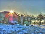 Zimní ráno na poli