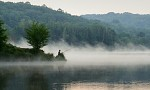 Rybář za svítání