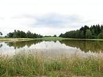 Vrcha po přeměně s rybníkem