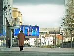 Muž před Europarlamentem / Bruxelles