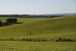 Pohled na zelený kopec