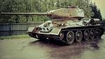 T-34 v dešti