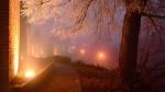 Nymburk - hradby v mlze
