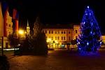 Vánoční strom v Nymburce