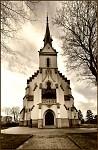 Novogotický kostel Svatého Mikuláše v Tvarožné u Brna