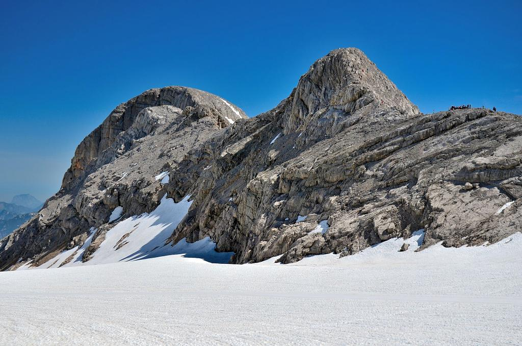 Na Dachsteinském ledovci