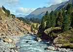 Řeka Fagge v údolí Kaunertal