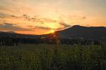 západ slunce za Ondřejníkem