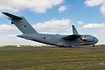 094 uk - air force boeing c-17a globemaster iii reg-zz178-divert na letu z brize