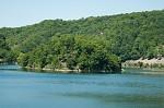 Klíčava přehrada pohled na ostrůvek