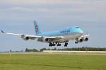 přistání Boeing 747