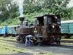 Parní lokomotiva vlaku do Nové Bystřice