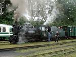 Parní lokomotiva vlaku do Obrataně