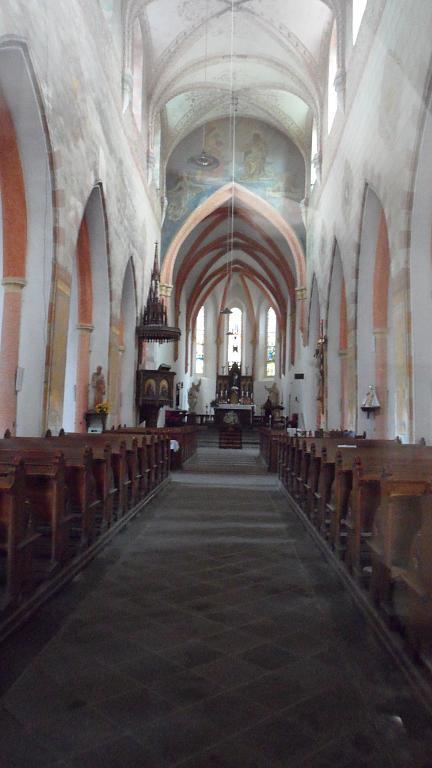 ...v kostele....