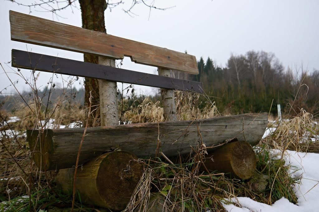 opuštěná lavička