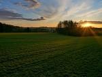 Západ slunce nad Vysočinou