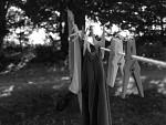 černobílé prádlo