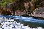 řeka v Zion Canyon, Utah, USA