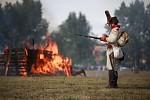 Rakouský granátník a hořící Dobšice