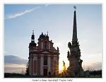 Kostel a sloup Nejsvětější Trojice Valeč