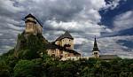 Oravský hrad + nebe :)