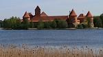 Hrad Trakai - boční pohled - Litva