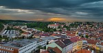 bouřlivé počasí nad městem