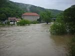 Berounka záplavy Roztocký most