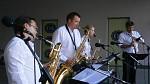 Harmony Quartet - promenádní koncert 28.7.2013 před OD Forum v Ústí nad Labem - z boku
