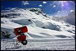 první sníh na Corviglia