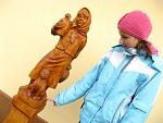 Obdivování sošky Aničky