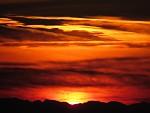 Západ slnka za Alpy