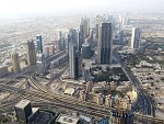Dubaj z veže Burj Khalifa