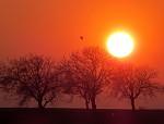 Slnko  na  konci dňa
